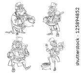 line art coloring leprechaun...   Shutterstock .eps vector #125894852