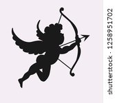 cupid illustration vector sign... | Shutterstock .eps vector #1258951702