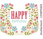 floral greeting card design.... | Shutterstock .eps vector #125895602