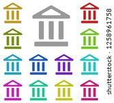 bank icon in multi color....