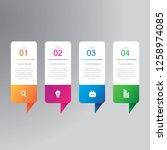 4 steps business infographics...   Shutterstock .eps vector #1258974085