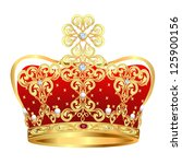 illustration of royal gold... | Shutterstock .eps vector #125900156