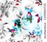 seamless floral background... | Shutterstock .eps vector #1259003725