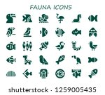 fauna icon set. 30 filled... | Shutterstock .eps vector #1259005435