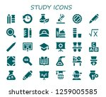 study icon set. 30 filled... | Shutterstock .eps vector #1259005585