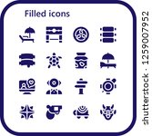 filled icon set. 16 filled...   Shutterstock .eps vector #1259007952