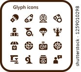 glyph icon set. 16 filled...   Shutterstock .eps vector #1259010298