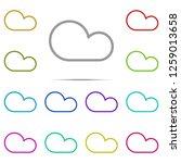 cloud icon in multi color....