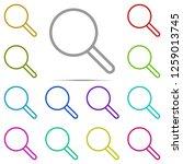 search icon in multi color....