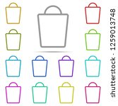 shopping bag icon in multi...