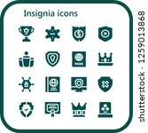 insignia icon set. 16 filled... | Shutterstock .eps vector #1259013868