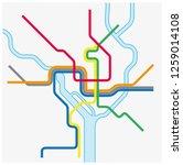 metro map of washington dc ...   Shutterstock .eps vector #1259014108