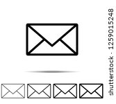 mail icon in different shapes ...