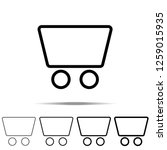 trolley icon in different...