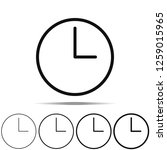 clock icon in different shapes  ...