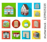 vector design of building and... | Shutterstock .eps vector #1259025235