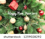 happy new year 2019 words on... | Shutterstock . vector #1259028292