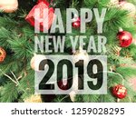 happy new year 2019 words on... | Shutterstock . vector #1259028295