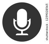 llustration of mic sign.... | Shutterstock .eps vector #1259028565