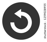 refresh icon. undo vector sign. ... | Shutterstock .eps vector #1259028955