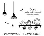 wall decal to decorate home and ... | Shutterstock .eps vector #1259030038