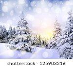 beautiful winter mountains...   Shutterstock . vector #125903216