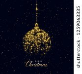Christmas Ball Made With Golden ...