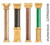 classic arabic architecture...   Shutterstock . vector #1259066548