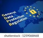 gdpr general data protection... | Shutterstock . vector #1259068468