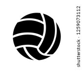 vector volleyball sport icon | Shutterstock .eps vector #1259073112