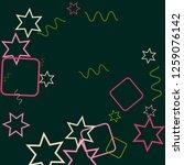 geometric memphis background.... | Shutterstock .eps vector #1259076142