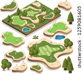 set of elements for a golf...   Shutterstock .eps vector #1259081605