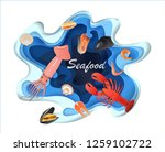 banners design seafood pages... | Shutterstock .eps vector #1259102722