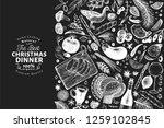 happy christmas dinner design... | Shutterstock .eps vector #1259102845