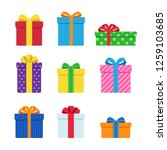 vector of colorful gift box... | Shutterstock .eps vector #1259103685