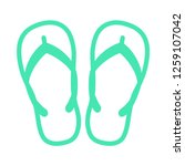 beach slippers   flipflop icon | Shutterstock .eps vector #1259107042
