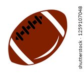 american football icon | Shutterstock .eps vector #1259107048