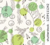 seamless pattern with edible... | Shutterstock .eps vector #1259111242