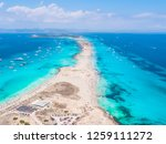 drone view over the turquoise... | Shutterstock . vector #1259111272