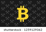 hammer and pick as symbol of... | Shutterstock .eps vector #1259129362
