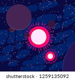 2d illustration. cartoon space... | Shutterstock . vector #1259135092