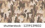 stylish desert camouflage....   Shutterstock .eps vector #1259139832