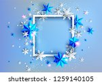 realistic shine banner with... | Shutterstock .eps vector #1259140105