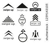 set of black swipe up icons...   Shutterstock .eps vector #1259143105