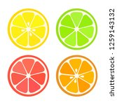 collection of four citrus... | Shutterstock .eps vector #1259143132