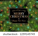 we wish you a very merry... | Shutterstock . vector #1259145745