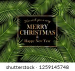 we wish you a very merry... | Shutterstock . vector #1259145748