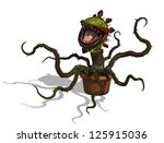 a very hungry carnivorous plant ... | Shutterstock . vector #125915036
