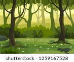 summer fantasy forest landscape ...   Shutterstock .eps vector #1259167528