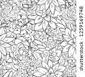 cactus vector pattern. white... | Shutterstock .eps vector #1259169748
